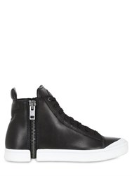Diesel Zip Around Leather High Top Sneakers