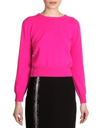 Christopher Kane Cashmere Crewneck Sweater Fuchsia