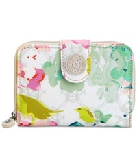 Kipling New Money Wallet Luscious Florals White