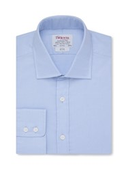 T.M.Lewin Plain Slim Fit Classic Collar Formal Shirt Blue