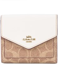 Coach Signature Canvas Small Wallet Brown