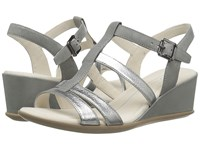 Ecco Shape 35 Wedge Buckle Alusilver Wild Dove Cow Leather Wedge Shoes