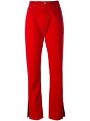 Msgm Straight Jeans Red