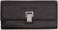 Proenza Schouler Black Leather Courier Continental Wallet