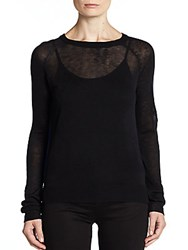 Saks Fifth Avenue Red Maison Colorblock Back Sweater Black