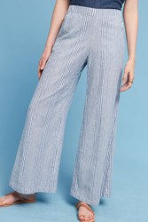 Anthropologie Pacifico Linen Wide Legs Blue