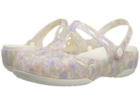 Crocs Carlie Graphic Cut Out Light Pink Floral Women's Clog Mule Shoes
