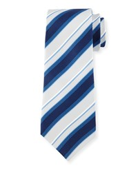 Regimental Silk Tie Blue Navy Men's Davidoff