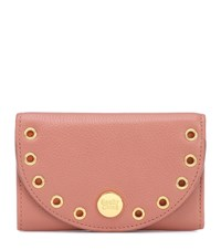 See By Chloe Kriss Embellished Leather Wallet Pink