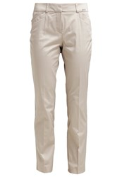 Comma Trousers Ivory Beige