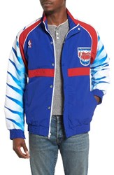 Mitchell And Ness Men's New Jersey Nets Tailored Fit Warm Up Jacket