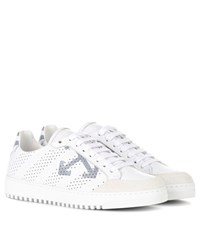 Off White Carry Over Leather Sneakers White