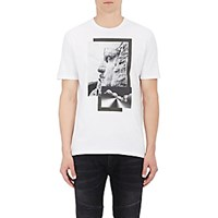 Neil Barrett Men's Monument Graphic Cotton T Shirt White