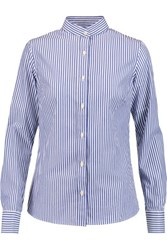 Stella Jean Striped Cotton Shirt Blue