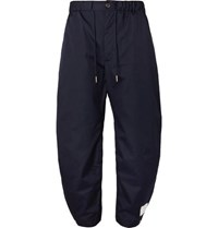 Thom Browne Drawstring Canvas Trousers Navy