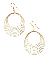Lord And Taylor 18 Kt Gold Over Sterling Silver Orbital Wire Earrings