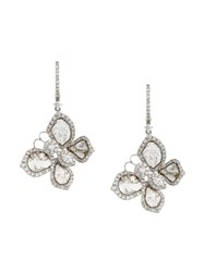 Saqqara Diamond Butterfly Earrings Metallic