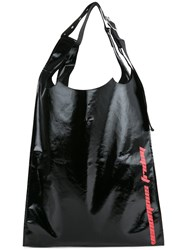 Raf Simons Shopper Tote Men Cotton Polyurethane One Size Black