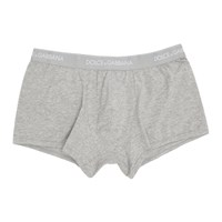 Dolce And Gabbana Two Pack Grey Regular Boxer Briefs