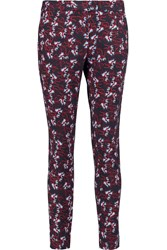 Mother Of Pearl Sevan Printed Stretch Jersey Slim Leg Pants Red