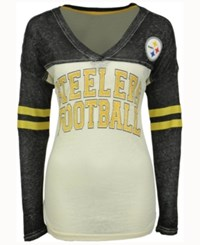 G3 Sports Women's Pittsburgh Steelers Field Position Long Sleeve T Shirt Black