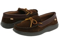 L.B. Evans Atlin Chocolate Suede W Terry Lining Slippers Brown