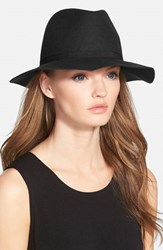 Women's Hinge Wool Felt Panama Hat Black