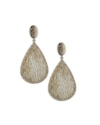Bavna Textured Diamond Teardrop Earrings