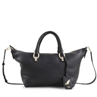 Diane Von Furstenberg Sutra Metro Duffle Deergrained Leather Bag