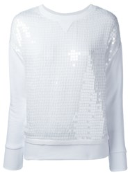 Dondup Sequined Sweatshirt White