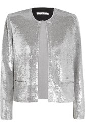 Iro Omana Sequined Tulle Jacket Silver