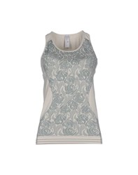 Adidas By Stella Mccartney Adidas By Stella Mccartney Topwear Vests Women Light Grey