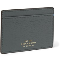 Smythson Leather Cardholder Gray