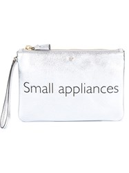 Anya Hindmarch Small Appliances Zip Top Pouch Metallic