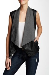 Tart Asymmetrical Vegan Leather Vest Black