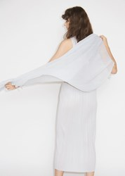 Issey Miyake Pleats Please Pleated Basic Scarf Light Gray