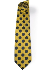 Gianfranco Ferre Vintage Printed Tie Yellow And Orange