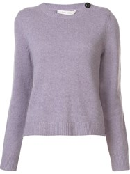 Marc Jacobs Cabochon Button Jumper Pink And Purple
