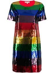 Michael Michael Kors Rainbow Sequin Dress Blue