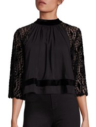 Tart Lauren Lace Combo Cropped Top Black