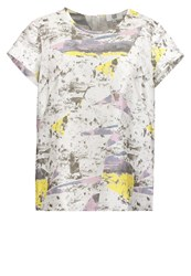 Noa Noa Print Tshirt White Multicoloured