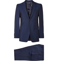 Burberry Navy Slim Fit Wool And Mohair Blend Suit Blue