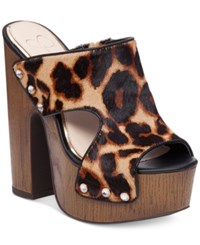 Jessica Simpson Wynne Platform Sandals Women's Shoes Leopard