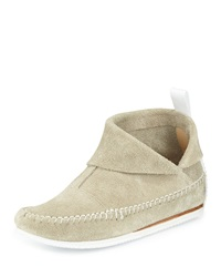 Rag And Bone Brixton Suede Moccasin Bootie Stone Rag And Bone