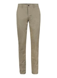 Topman Green Khaki Slim Fit Textured Stretch Chinos