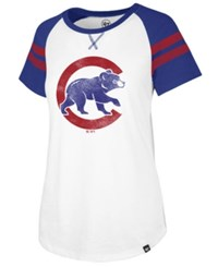 47 Brand '47 Chicago Cubs Flyout T Shirt White Royalblue