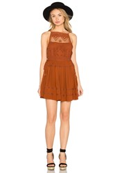 Free People Emily Dress Rust