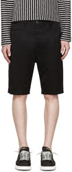 Diesel Black Gold Black Twill Shorts