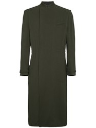 Haider Ackermann Long Coat With Drawstring Waist Green