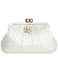 Style And Co. Beth Satin Clutch Ivory